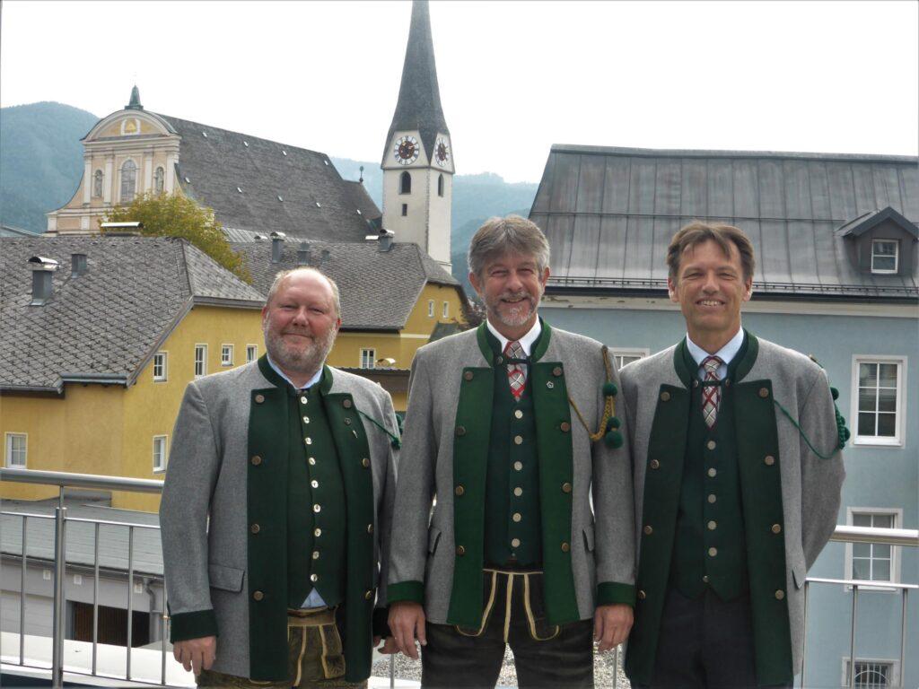 Vorstand der Garde der Stadt Bad Ischl seit 1999: Alexander Bittner, Jörg Sams, Jörg Lemmerer