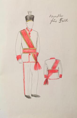 Garde der Stadt Bad Ischl Entwurf der Schwerttanz-Uniform